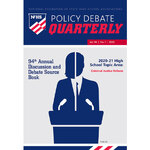 2020 Policy Debate Quarterly Volume 94, Number 1