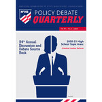 2020 Policy Debate Quarterly Volume 94, Number 2