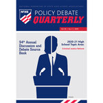 2020 Policy Debate Quarterly Volume 94, Number 3
