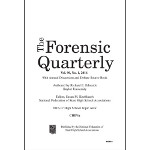 2016 Forensic Quarterly Volume 90, Number 1